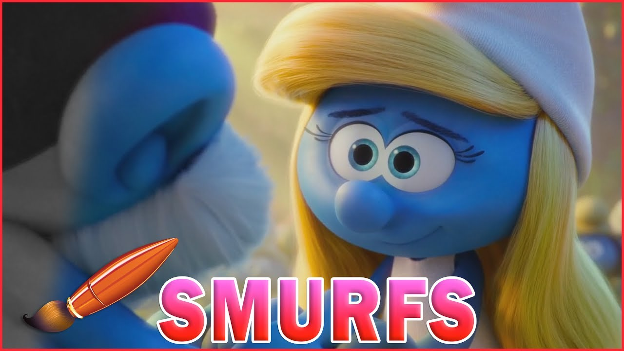 Smurfette Holds Papa Smurfs Hand