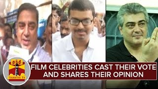 Film Celebrities Cast Their Vote & Shares Their Opinion – Thanthi Tv