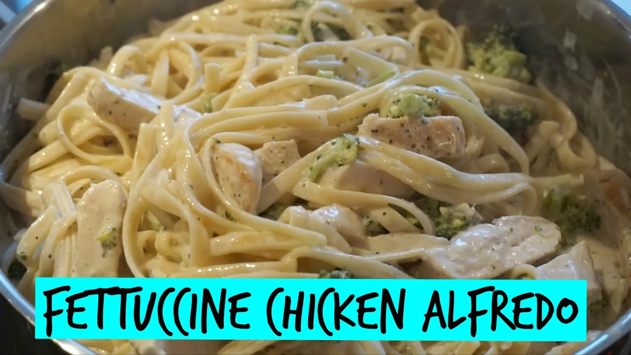 Easy Chicken Fettuccine Alfredo | HOW TO MAKE! - YouTube