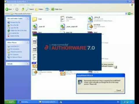 การใช้โปรแกรม Macromedia Authorware 7