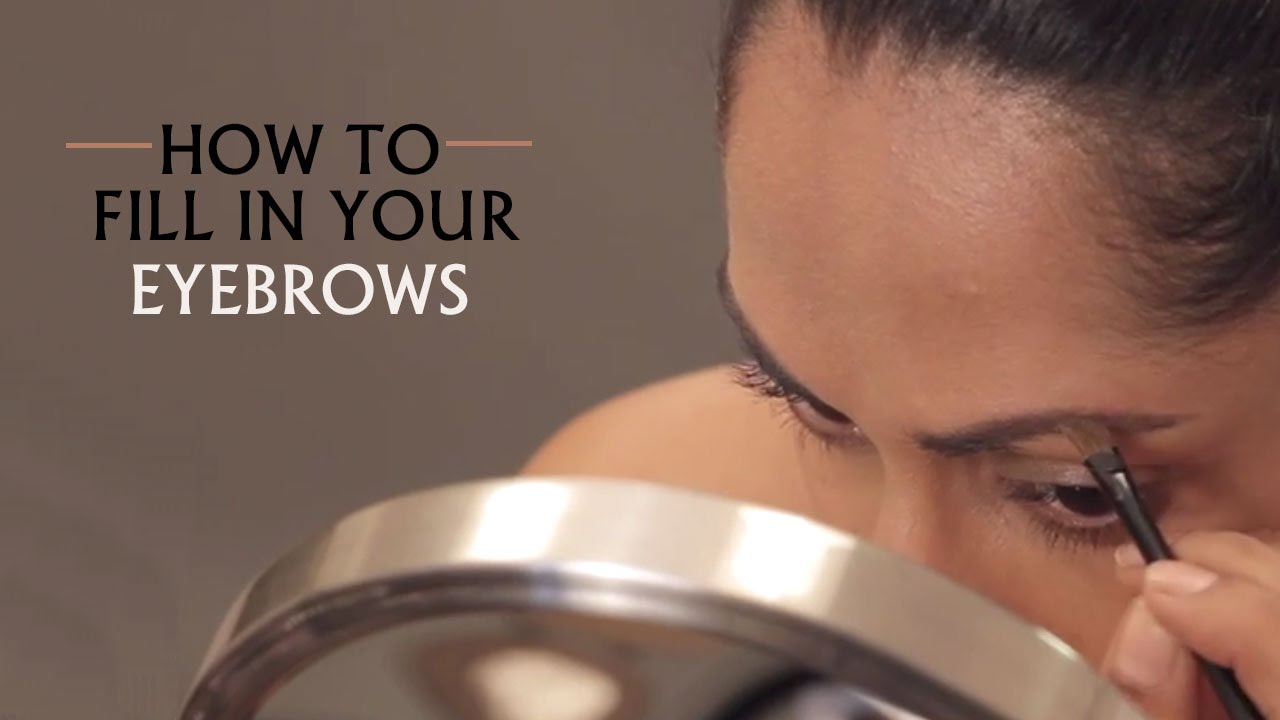 How To Fill In Your Eyebrows Using Eyeshadow Makeup Basics Youtube