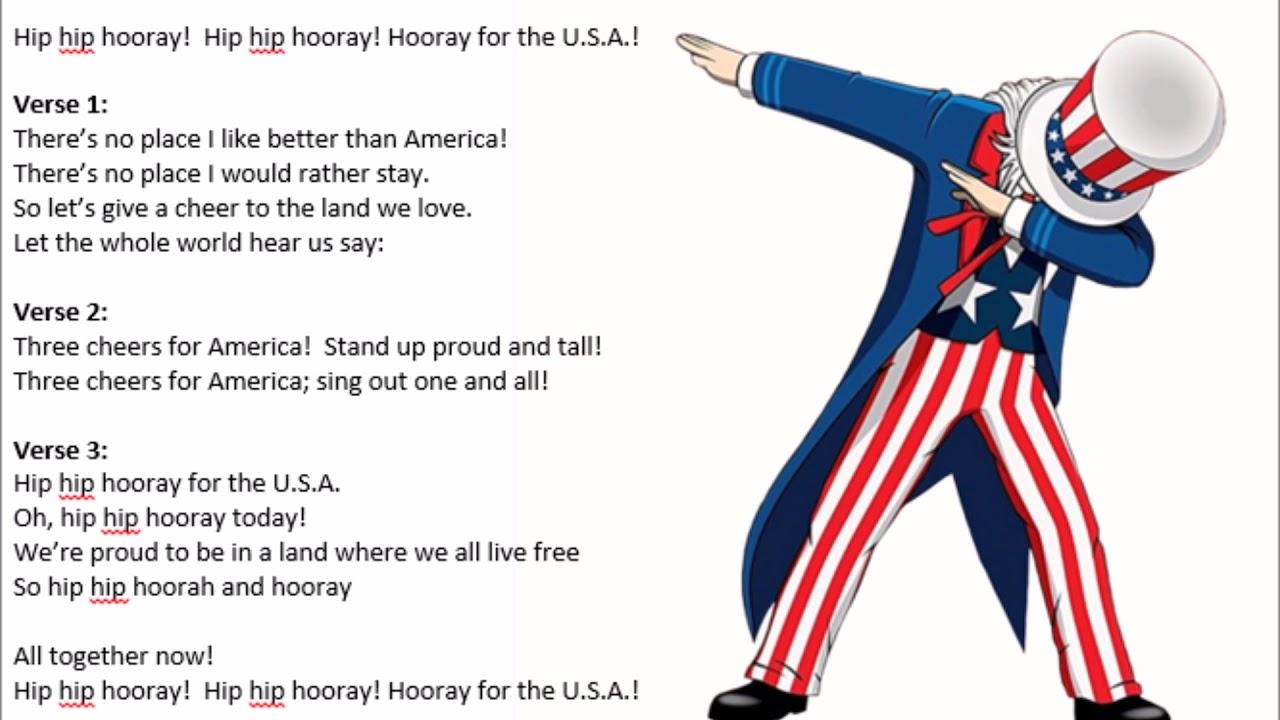 Three Cheers for America lyrics