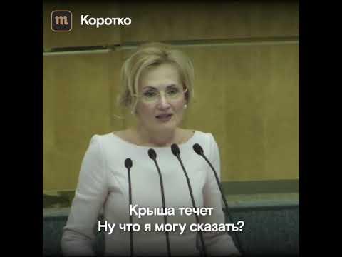 В Госдуме протекла крыша на выступлении Ирины Яровой