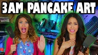 3AM Challenge: Do Not Make Pancake Art at 3am. Totally TV