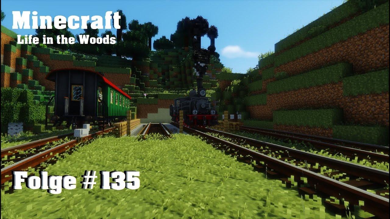 Minecraft Life In The Woods Der Lokschuppen Ist Im Aufbau - Minecraft zug spiele