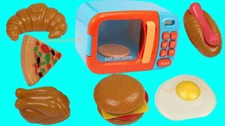Just Like Home Toy Electronic Microwave Pretend Play Toys Playset