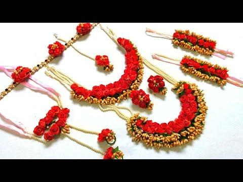 Flower Jewellery Making | Flower Jewellery for haldi | flower Jewellery making at home | Punekar Sne
