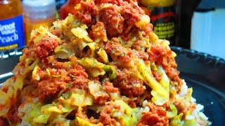 Quick  &  Easy  Canned   Corned  Beef   &   Cabbage -  B 4 Pay Day Meals
