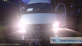 Грубое нарушение ПДД водителем маршрутки № 27 в Твери