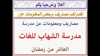مصاريف ومعلومات عن مدرسة الشهاب للغات ( العاشر من رمضان ) 2021 - 2022