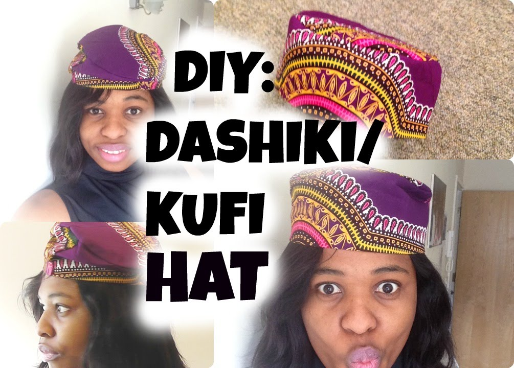 DIY HOW TO SEW A HAT AFRICAN KUFI HATBLACK PANTHER HAT