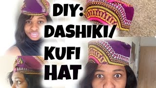 DIY: HOW TO SEW A HAT| AFRICAN KUFI HAT|BLACK PANTHER HAT