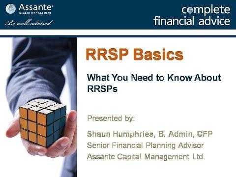RRSP Planning Basics