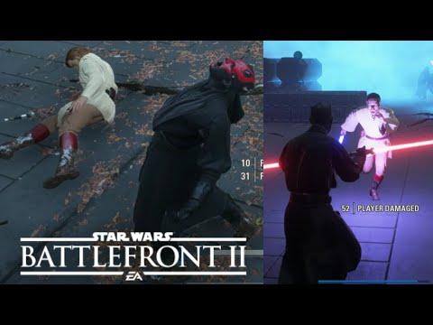 NEW DARTH MAUL EMOTE! - KENOBIIIIIIII! - Star Wars Battlefront 2