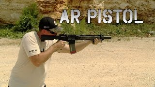 ar pistol with surefire genisis 762 suppressor review shooting    the bullet points