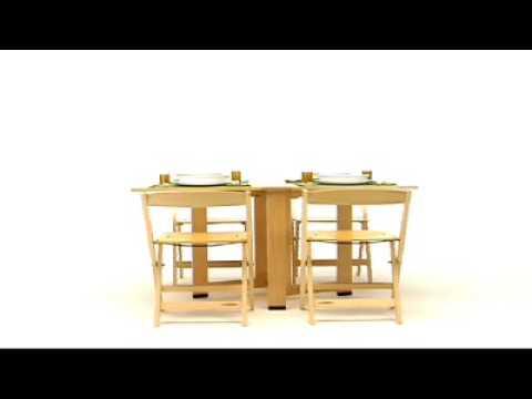 Tavolo Estraibile A Scomparsa Flex Di Astor.Tavolo Cartesio Foppapedretti Youtube