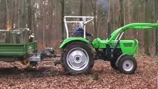 DEUTZ 4006 steckt im Wald fest - stuck tractor