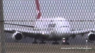 QF9 Qantas A380 Airbus Take Off  Melbourne Singapore London LHR 03APR11  ATC