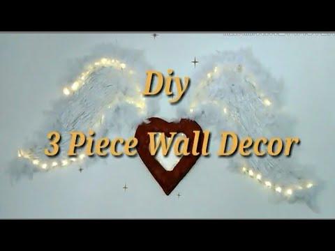 Diy/Dollar Tree Items/Valentine's/AngelWings& Heart/Light Up/Wall Decor
