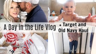 TARGET AND OLD NAVY HAUL | DAY IN THE LIFE VLOG | BRITTANI BOREN LEACH