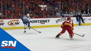 Elias Pettersson Shows Killer Instinct With Filthy Snipe Vs. Calgary Flames