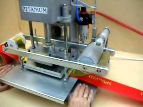 Maquina de hot stamping youtube for Maquinas para toldos enrollables