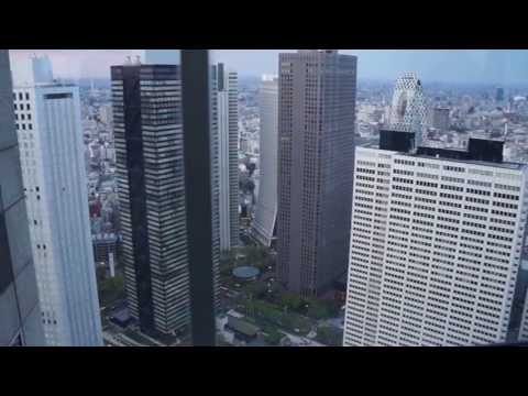 Tokyo city view, from Tokyo government metropolitan building. [1080p]