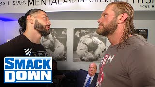 Edge approaches Roman Reigns to discuss WrestleMania showdown: SmackDown, March 26, 2021