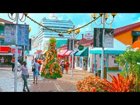 Caribbean New Year 2⃣0⃣1⃣7⃣ Antigua island, St. John's city 4K Карибы, Антигуа, Новый год.