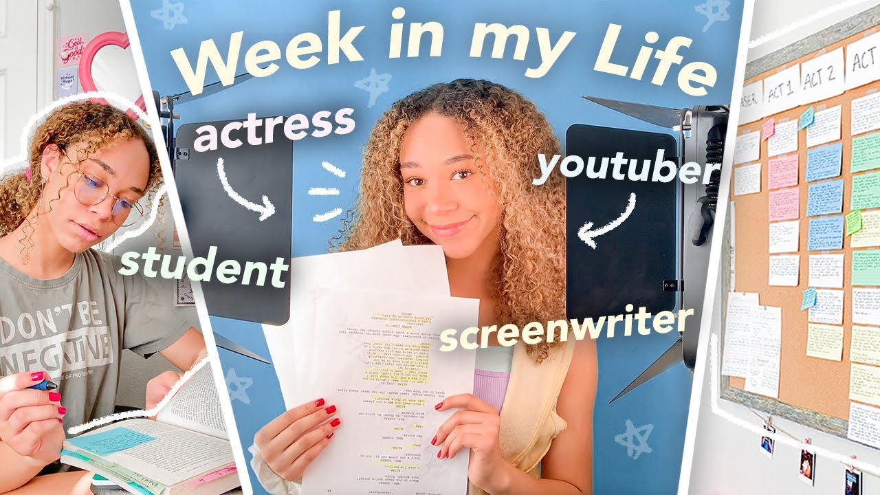 Download WEEK IN MY LIFE as a TEEN ACTRESS! (Auditions, High School, Screenwriting + Acting Tips Vlog)