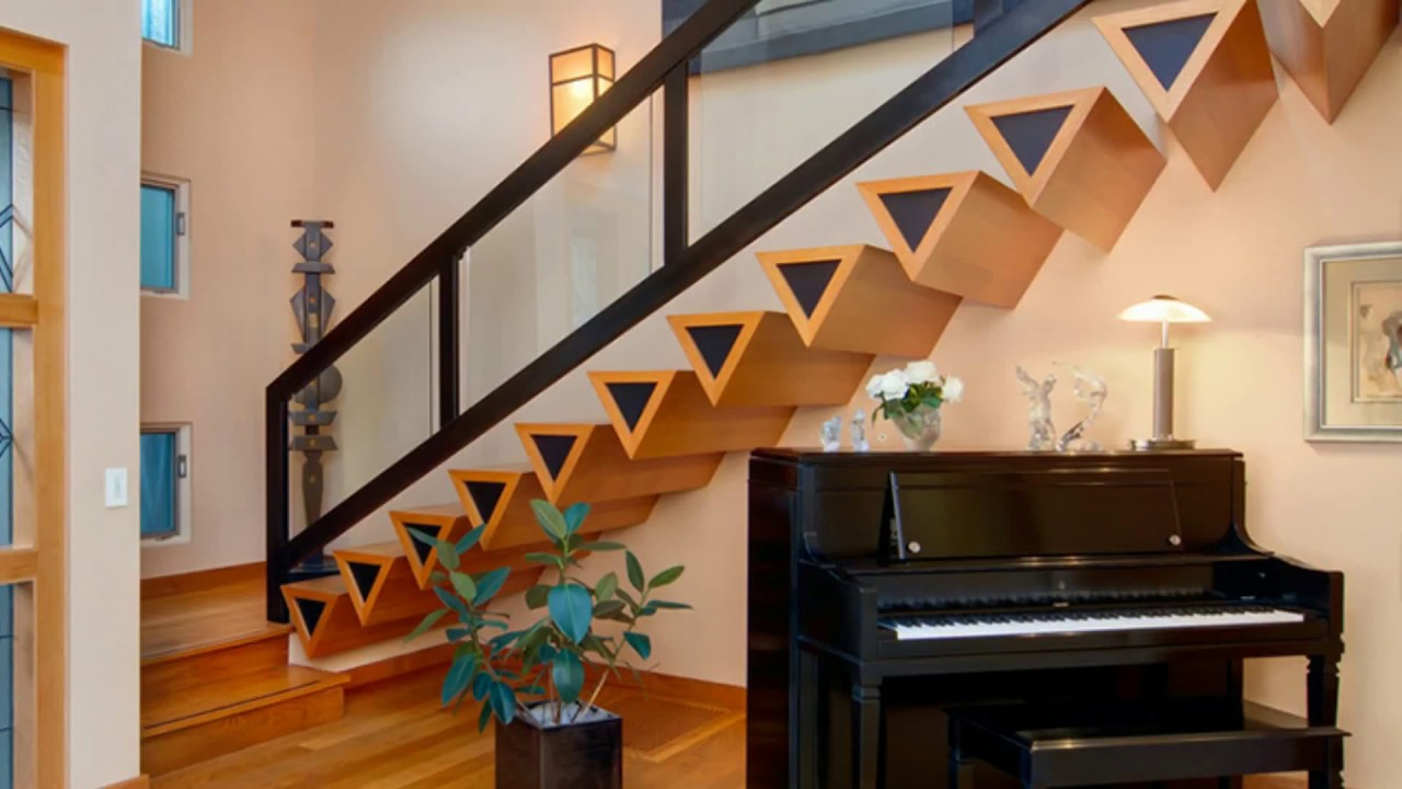 Top 10+ Modern Staircase Railing Design Ideas 2018 | DIY Interior Decorating  For Small Spaces DIY