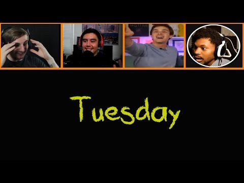 Let's Players Reaction To It Becoming Tuesday And Kindergarten 2 | Kindergarten