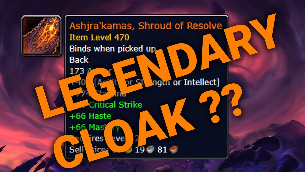 How To Start Legendary Cloak Questline Bfa Wow Quick Guide Youtube