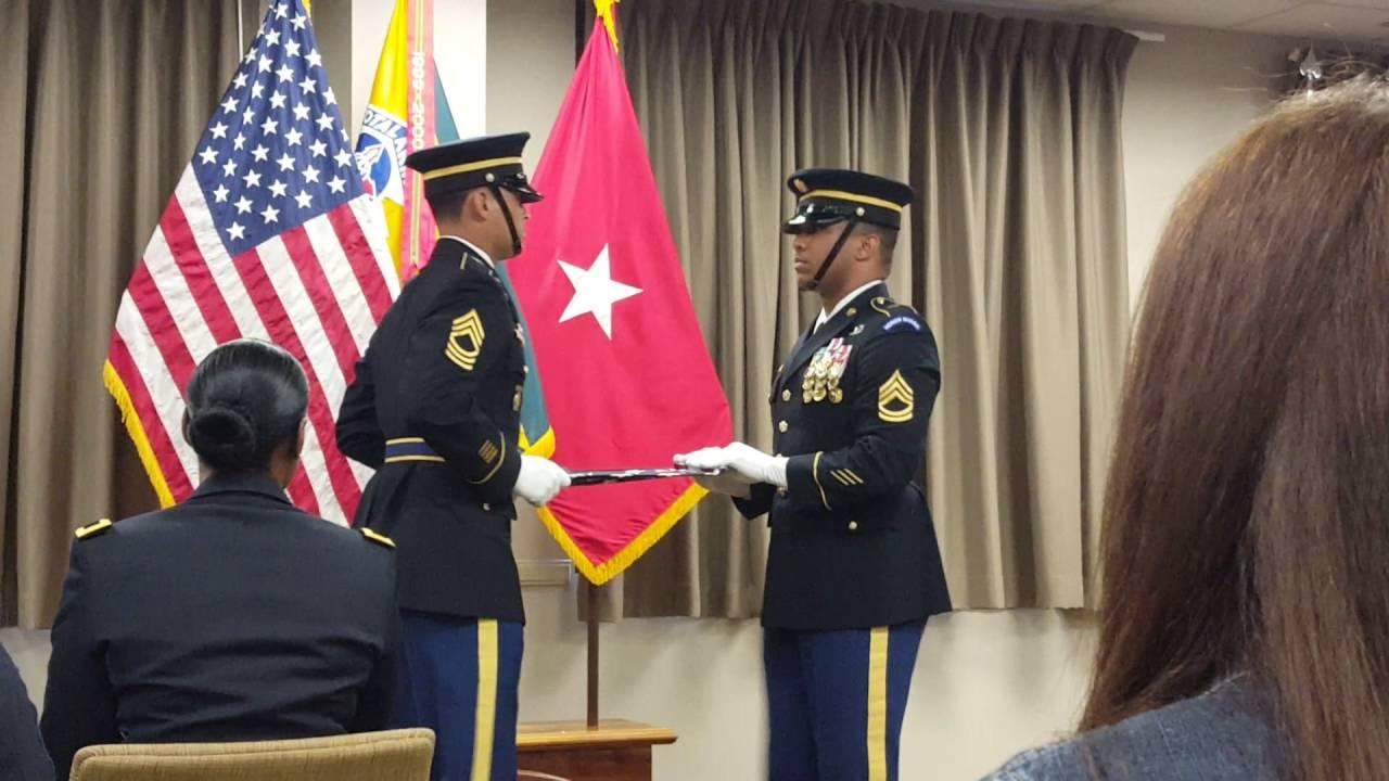 Army Retirement Flag Folding Ceremony Youtube
