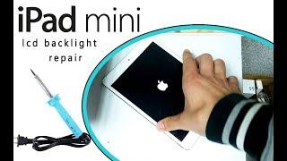 iPad Mini LCD Backlight Hardware Repair tutorial / reparación de la luz de fondo de la pantalla