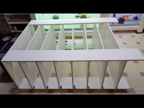 DIY Ball Python Rack for 41qt tubs