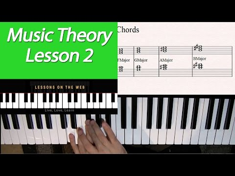 Learn Music Theory Lesson 2 – How Chords are Constructed 101 – Triads, Inversions and Progressions