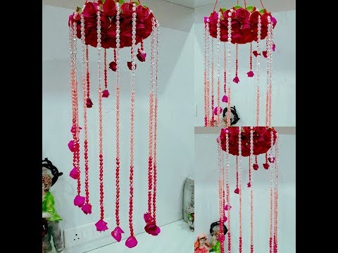 DIY Wind Chime with Beautiful Paper Roses || Glitters and Sparkles ||Paper Craft