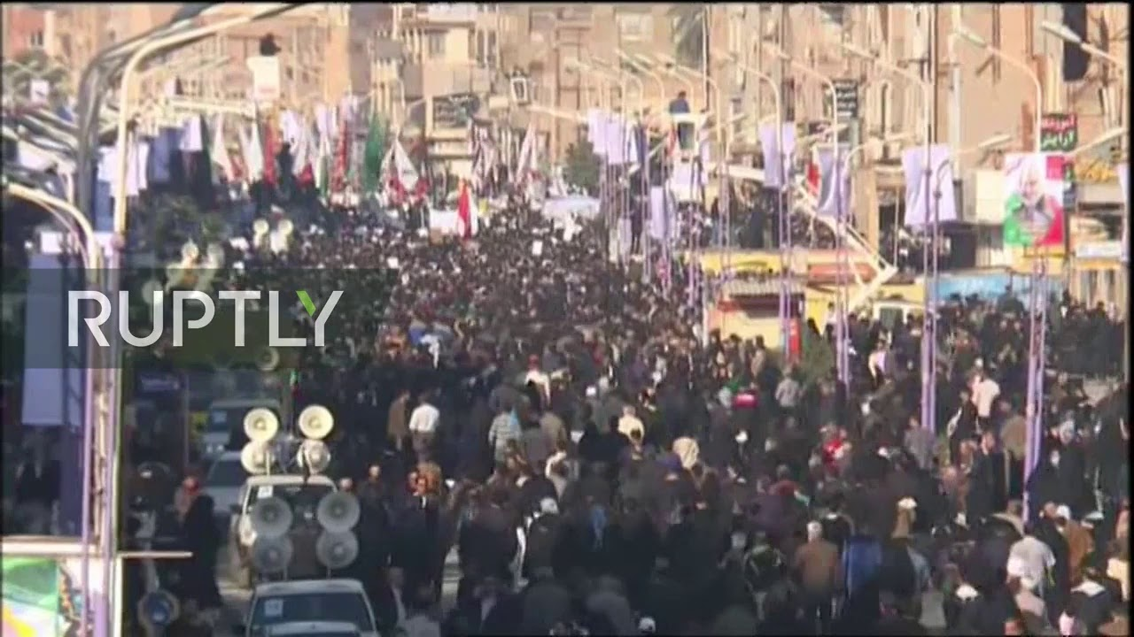 LIVE: Body of Iran's General Soleimani arrives in Iranian city of Ahvaz for farewell ceremony