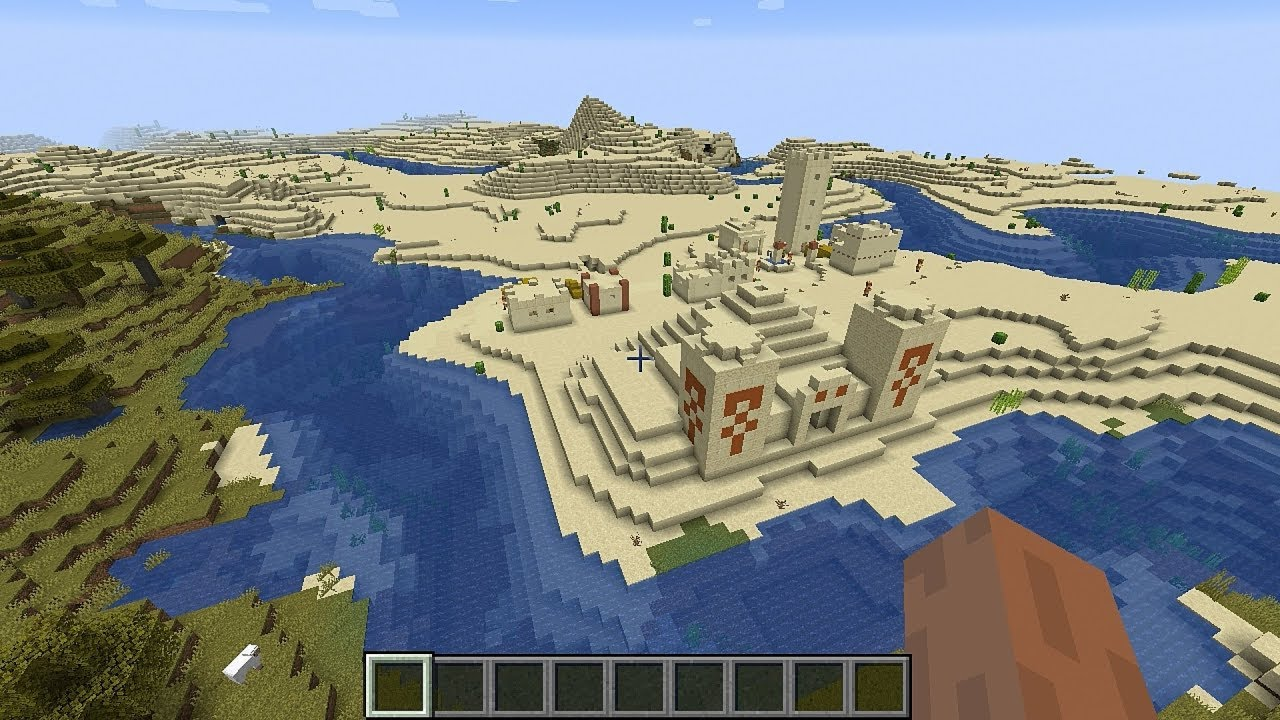 Minecraft 12.124 Seed 1277: Many, many villages and desert temples
