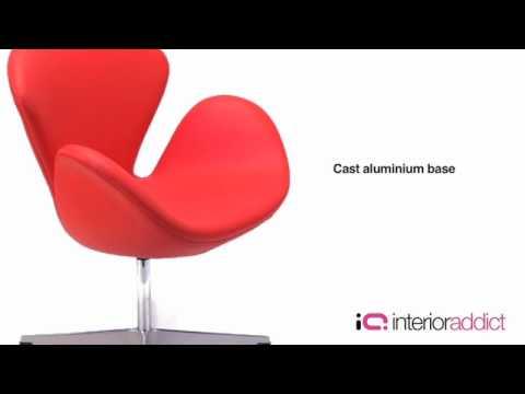 Arne Jacobsen Stoel : Arne jacobsen swan chair svanen stol youtube