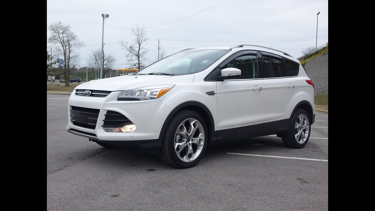 Ford Escape 2019 >> 2015 Ford Escape Titanium - Walkaround Review - YouTube