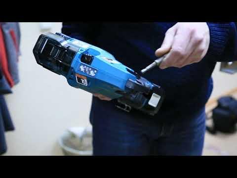 Пистолет для вязки арматуры MAKITA DTR180ZK - тест в работе