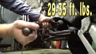 Honda CR-V upper ball joint control arm and outer tie rod replacement