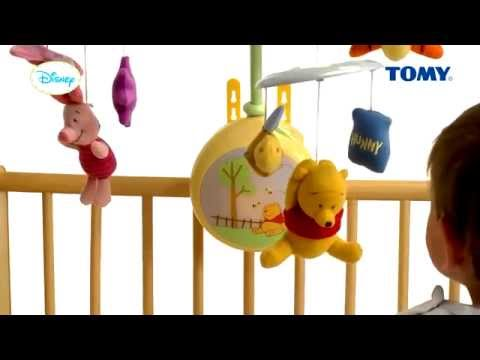 Winnie The Pooh Light Up Cot Mobile - Littlke Dreamers - YouTube