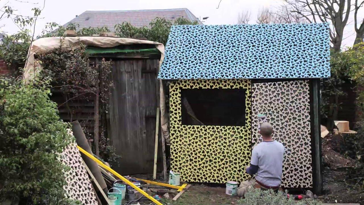 Britain 39 s worst shed gets some new threads thanks to cuprinol and eley kishimoto youtube - Britains craziest sheds competition ...