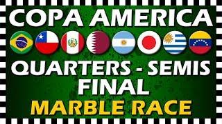 Copa America 2019 Quarter Finals - Semi Finals & Final - Marble Race - Algodoo