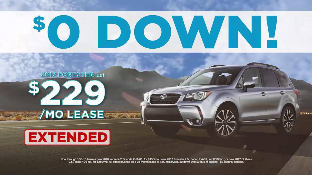 0 Down Lease Deals >> Landers Mclarty Subaru Zero Down Deals