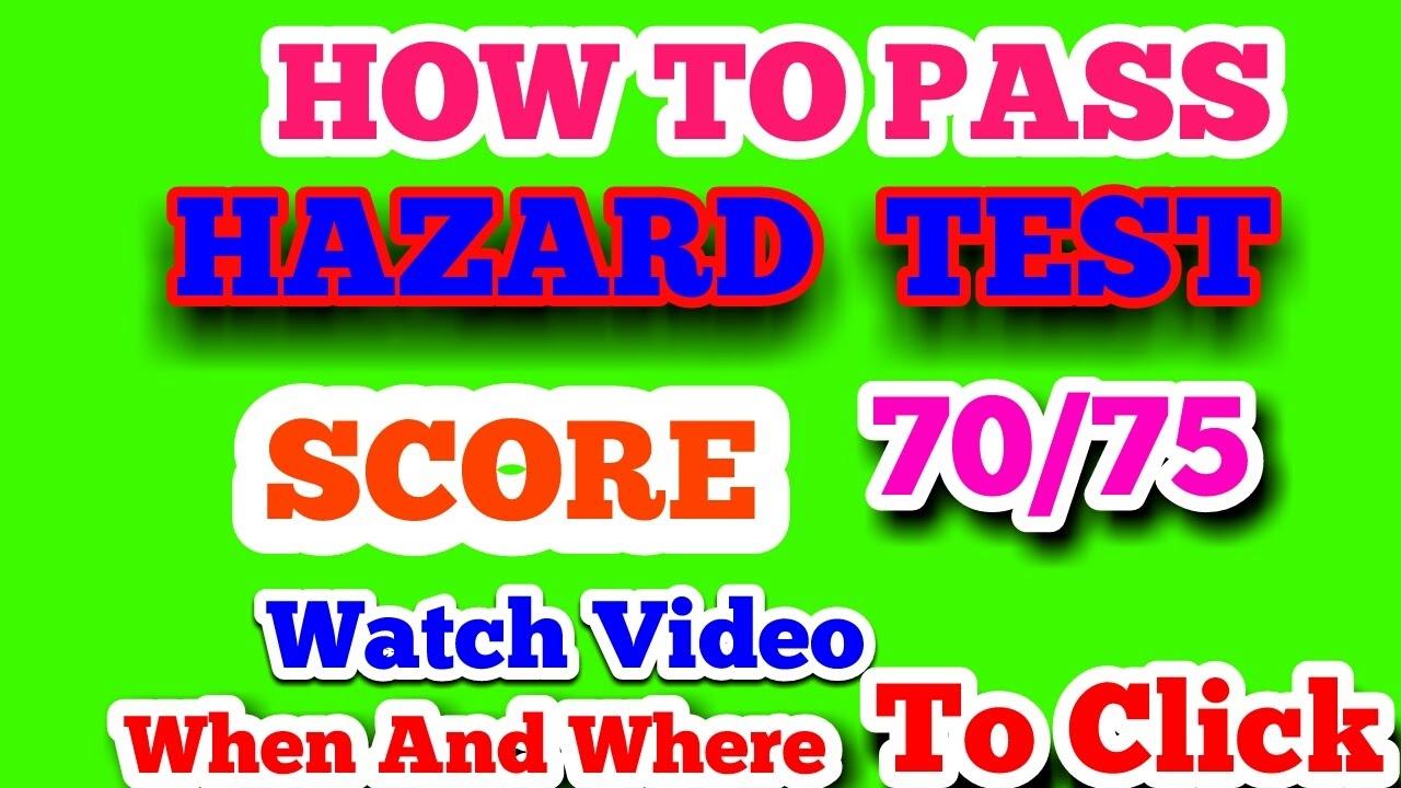 how to pass hazard perception test uk