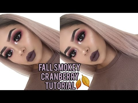 Fall Cranberry Smokey Eye Makeup Tutorial